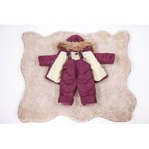 Зимовий дитячий комбінезон з курткою дитячий Natalie Look Пушок 98-104 см бордовий