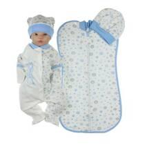 Комплект одягу для новонародженого хлопчика Lari 56 білий з блакитним
