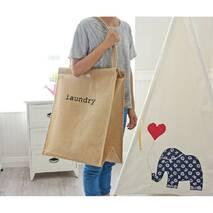 Кошик-сумка для білизни доладна іграшок бежева Laundry