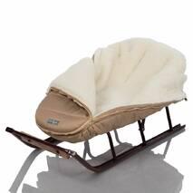 Зимний конверт для новорожденного на выписку и прогулку Baby XS 56-74 Бежевый