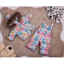 Зимовий комбінезон з курткою дитячий Natalie Look Кексик 86-92 см кольорової