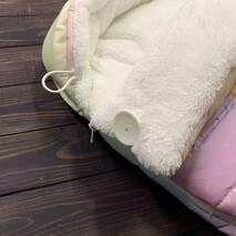 Конверт кокон зимний на выписку Маленькая лисичка 70х40 см