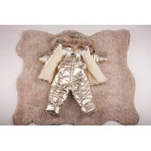 Зимовий комбінезон з курткою дитячий Natalie Look Золото 98-104 см