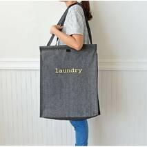 Корзина-сумка для белья складная игрушек джинсовая Laundry