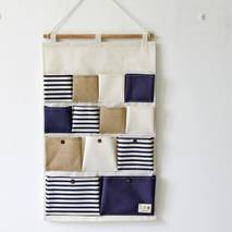 Органайзер настінний для зберігання синій 13 кишень