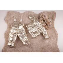 Зимовий комбінезон з курткою дитячий Natalie Look Золото 86-92 см