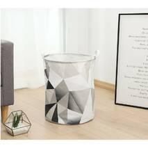 Кошик для іграшок сірий Абстрактні трикутники