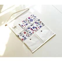 Підвісний органайзер з кишенями білий Штурвал 7 кишень