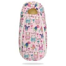 Зимний конверт для новорожденного на выписку и прогулку Baby XS 56-74 Рисунки на Розовом фоне с Опушкой