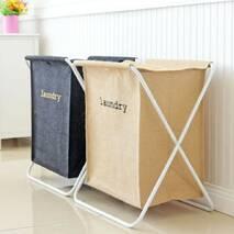 Корзина для белья складная игрушек бежевая Storage Large