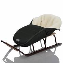 Зимний конверт для новорожденного на выписку и прогулку Baby XS 56-74 Черный с Опушкой