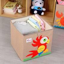 Ящик для іграшок складана коричнева Папуга