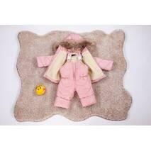 Зимовий дитячий комбінезон з курткою для дівчинки Natalie Look 86-92 см рожевий
