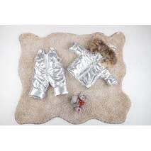 Зимовий комбінезон з курткою дитячий Natalie Look Сріблястий 98-104 см