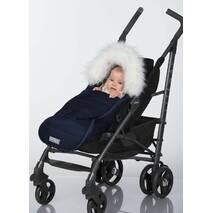 Зимний конверт для новорожденного на выписку и прогулку Baby XS 56-74 Синий с Опушкой