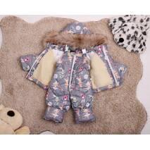 Зимовий комбінезон з курткою дитячий Natalie Look Балерини 92-98 см сірий