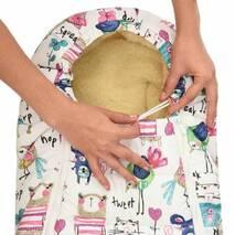 Зимний конверт для новорожденного на выписку и прогулку Baby XS 56-74 Рисунки на Белом фоне с Опушкой
