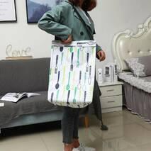 Корзина-сумка для белья игрушек белая Столовые приборы