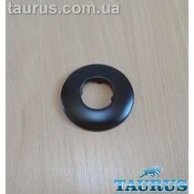 """Чорний плоский декоративний н/же фланець, розмір D60 мм, висота до 8 мм, під внутрішній розмір 3/4"""" (25 мм)"""