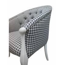 Кресло Мэри Прованс стиль на фигурных деревянных ножках