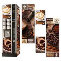 Наклейка на кофейный автомат Necta Kikko Max