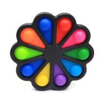 Simple Dimple Антистресс Игрушка Симпл Димпл - (Pop It - Поп Ит - Попит - Popit) - Черный Цветок - 10 пупырок