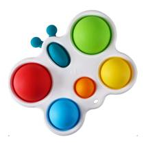 Simple Dimple Антистресс Игрушка Симпл Димпл - (Pop It - Поп Ит - Попит - Popit) - Белый Брелок Бабочка с карабином - 6 пупырок