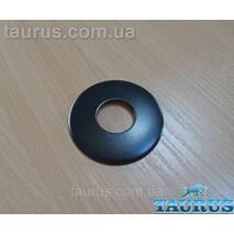 """Чёрный плоский декоративный н/ж фланец, размер D67 мм, высота 5 мм, под внутренний размер 3/4"""" (26 мм)"""