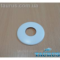 "Белый плоский декоративный н/ж фланец White размер D67 мм, высота 5 мм под внутренний размер 3/4"" (25 мм)"