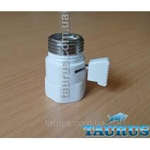 """Білий компактний Micro кран Eco White (Польща, 1/2"""") для прихованого підключення полотенцесушителей"""