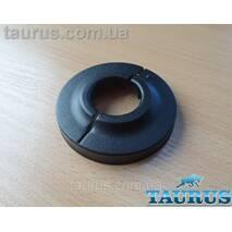 """Чорний розбірний декоративний фланець - чашка DUO D65 / висота 15 мм Black, внутрішній розмір 3/4"""" d26мм"""
