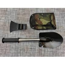 Туристический набор 4 в 1 лопатка, нож, пила, топор / 3054