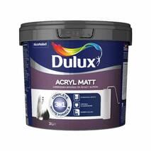 Белая эмульсионная краска для стен и потолка Dulux Acryl Matt 3л. (Бесплатная доставка* от 3000 грн.)