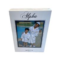 Детский халат Maison D'or Alpha Kids White-Blue хлопок 10 лет белый