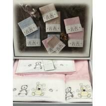 Набір дитячих рушників Maison D'or Lamite Pink махрові 30-50 см, 50-100 см, 70-130 см рожеві