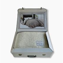 Вафельний плед Maison Dor Emeline Ekru бавовна 180-240 см кремовий