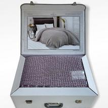 Вафельний плед Maison Dor Emeline Lila бавовна 240-260 см бузковий