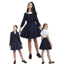 Юбка детская школьная м-1104 рост 104 110 116 12 128 134 140 146 152 158 цвета черный и синий