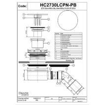 Сифон для низького піддона D90 McAlpine HC2730LCPN-PB