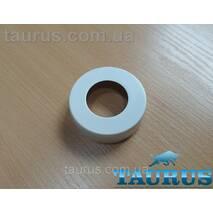 """Белый высокий плоский декор фланец ThermoPulse White D62 / высота 19 мм, внутренний размер 1"""" (d33мм)"""