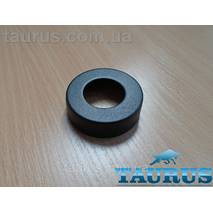 """Чёрный высокий плоский декоративный фланец D62, высота 19 мм Black, внутренний размер 1"""" (d33мм) ThermoPulse"""