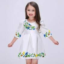 """Детские  платья для вышивки бисером """"Польовий віночок"""""""