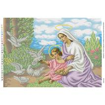 Мария и младенец Иисус с голубями