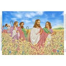Иисус Христос с апостолами на пшеничном поле (част.)