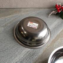 Миска металева універсальна 20 см з нержавіючої сталі Kamille