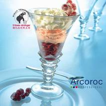 Креманка стеклянная высокая прозрачная Arcoroc Palmier 370 мл (58012)