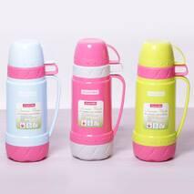 Термос для дівчаток Kamille 1000 мл пластиковий із скляною колбою