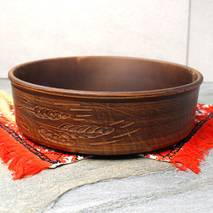 Большая миска из красной глины Колосок  27.5 см