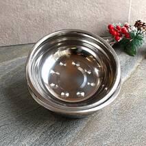 Миска металева універсальна 22 см з нержавіючої сталі Kamille
