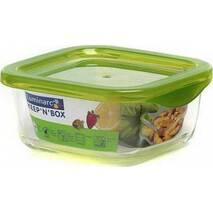 Пищевой контейнер с зелёной крышкой Luminarc KEEP'N' 760 мл (P4524)